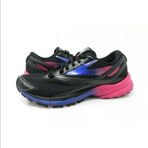 Brooks Launch 4 Running Shoes Black/Pink/Blue